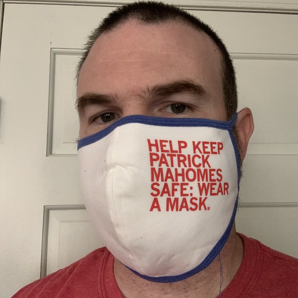 Me wearing a mask.